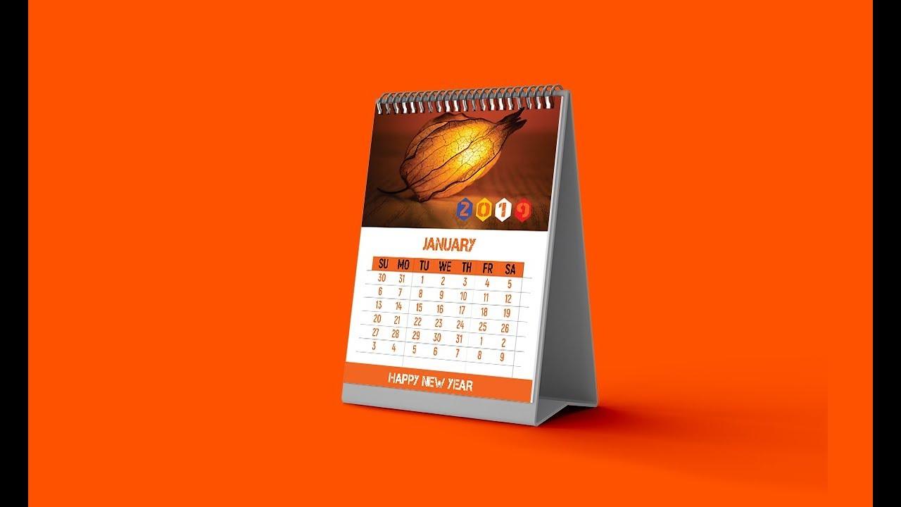 Calendar Design 2019 Desk Calendar Photoshop Tutorial