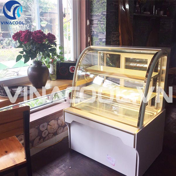 tủ trưng bày bánh ngọt mini đề bàn vinacool