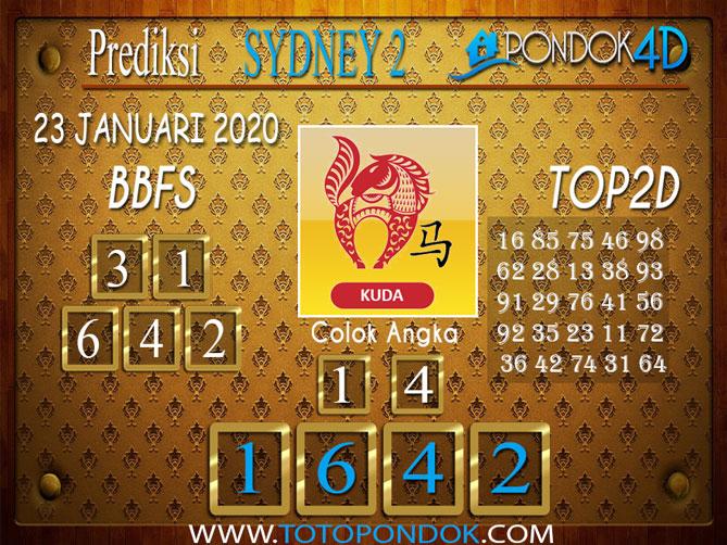 Prediksi Togel SYDNEY 2 PONDOK4D 23 JANUARI 2020