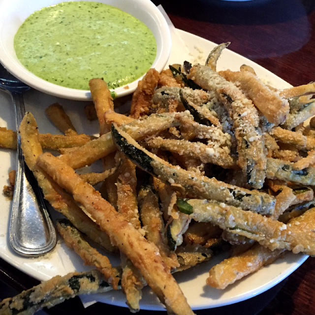 Zucchini Fries with Green Goddess Dressing at VAI's Naperville