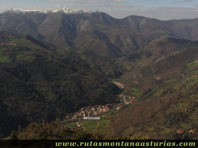Vista de Belmonte desde Peña Cervera