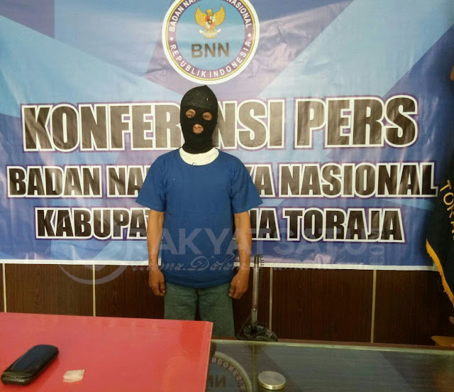 Oknum ASN Tana Toraja Berhasil Dibekuk Badan Narkotika Beserta Barang Bukti