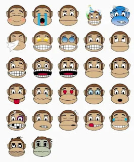 Whatsapp monkey stickers