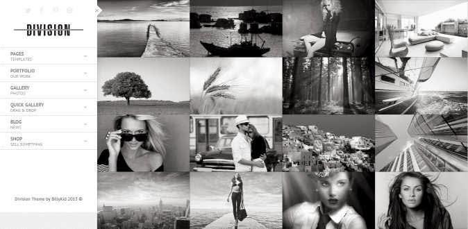 Division – Fullscreen Portfolio Photography Theme