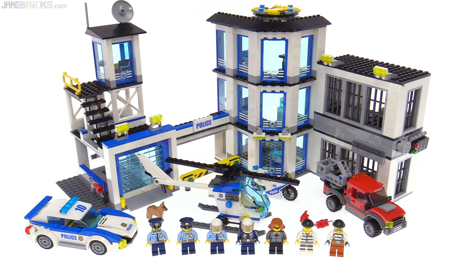 lego city 2017 police station review 60141. Black Bedroom Furniture Sets. Home Design Ideas