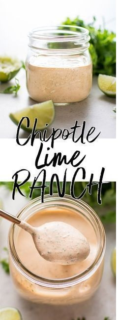 Chipotle Cilantro Lime Ranch Dressing