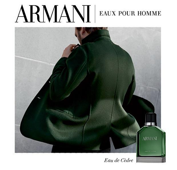 Reklama perfum Armani Eau de Cedre