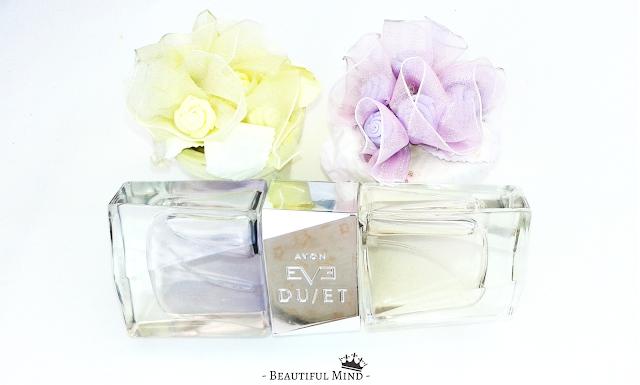 eau de parfum eau de toilette perfume avon eve duet deux parfums en un seul avonistas fragrance senteur odeur florale fruitée parfum femme radiant sensuel note de tête note de coeur note de base