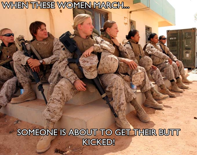US Army female soldiers meme kicking ass