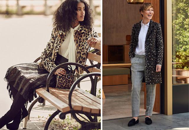 Леопардовый жакет с юбкой и леопардовое пальто с брюками в элегантных образах