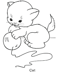 C For Cats Coloring Pages Alphabet