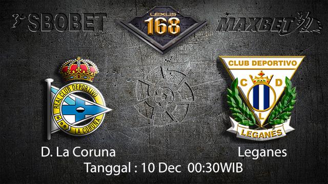 PREDIKSI BOLA ~ PREDIKSI TARUHAN BOLA D. LA CORUNA VS LEGANES 09 DESEMBER 2017 (Spanish La Liga)