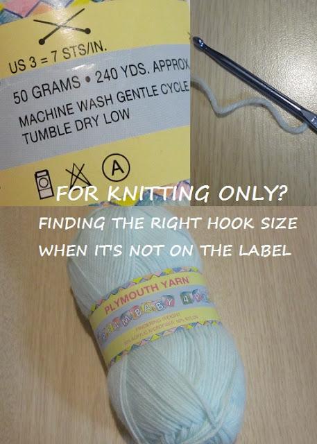yarn, gauge, knitting, crochet, hook size, Plymouth Dreambaby 4 Ply