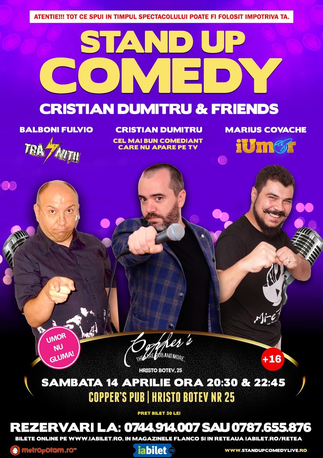 Stand-Up Comedy Bucuresti Sambata 14 Aprilie