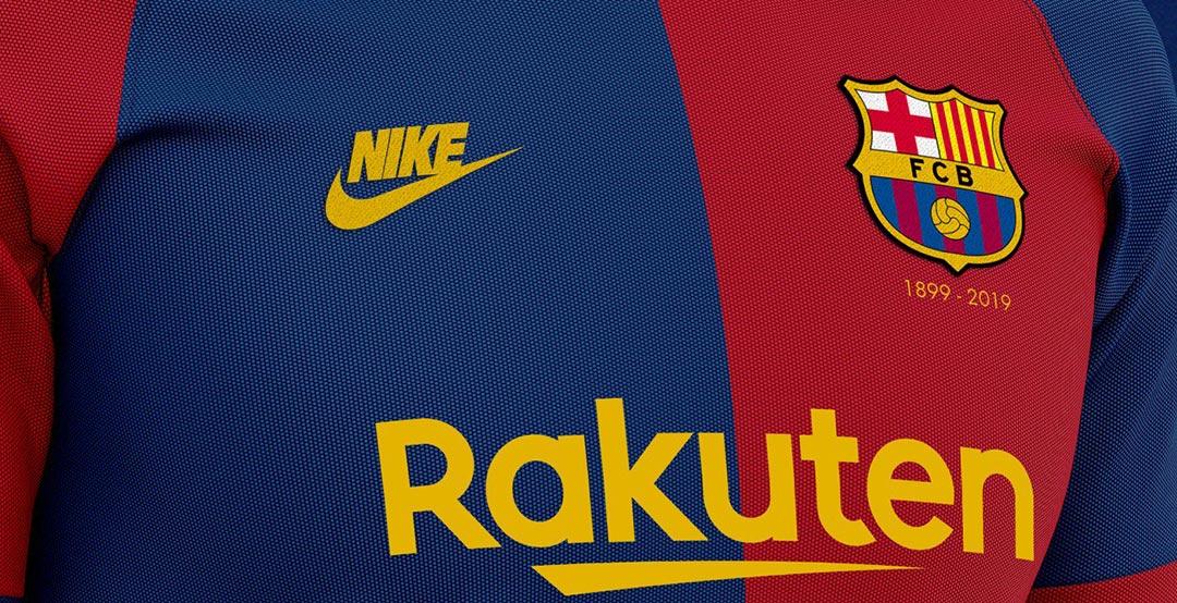new styles f614e 0b071 Nike FC Barcelona 120-Years Anniversary Home, Away ...