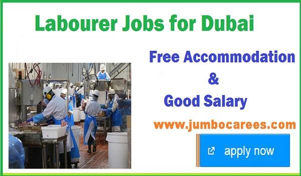 Latest Dubai jobs with accommodation, Labourer jobs with salary,