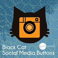 Black Cat Social Media buttons | download at I Gotta Create!
