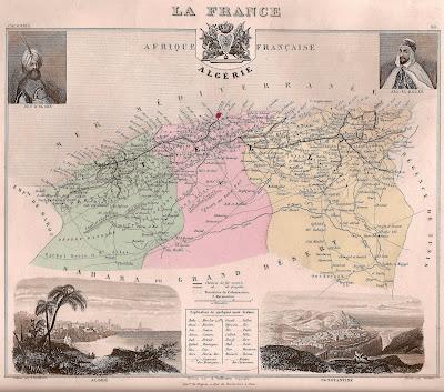 Les provinces d'Algérie, 1848 (CIRCA)