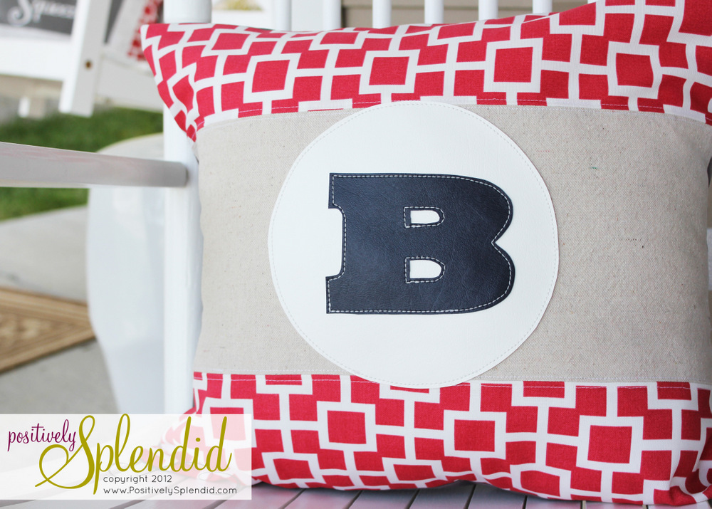 Diy Monogram Pillows With Vinyl Applique Positively