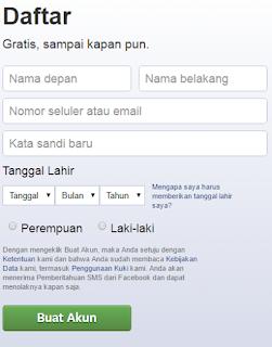 daftar facebook