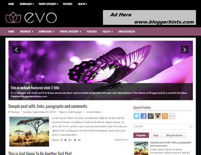 EVO Responsive Blogger Theme