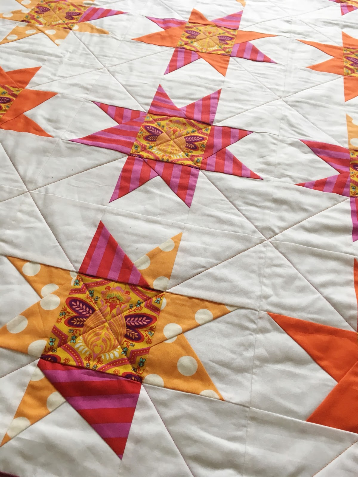 Sparkle Bee Wonky Star Quilt Charm About You