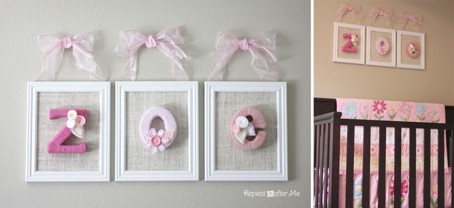 Baby girl nursery diy decorating ideas repeat crafter me for Room decor you can make