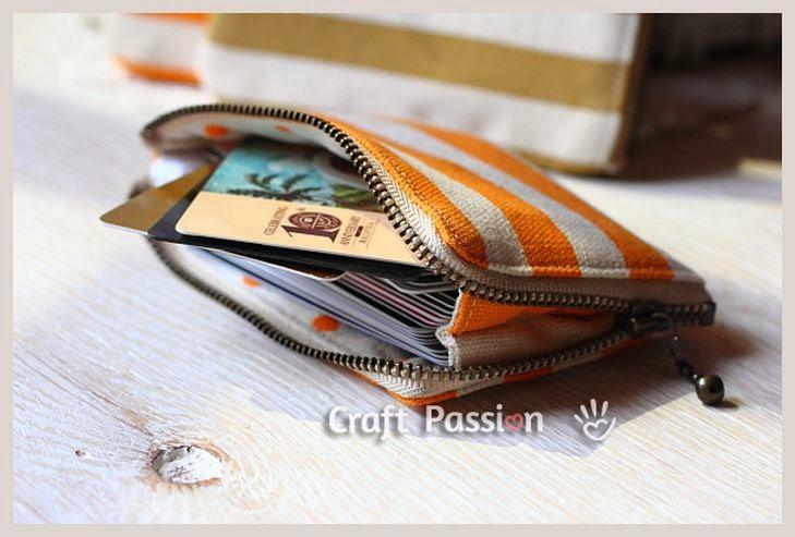 Портмоне для визиток и кредитных карточек. Credit Card Holder DIY tutorial