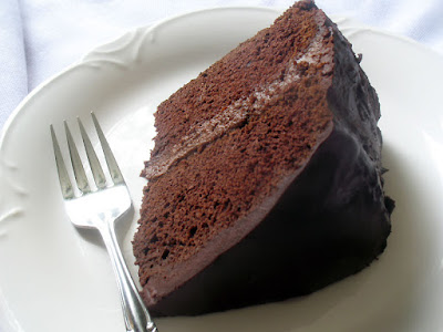 Chocolate Cake with Chocolate Filling and Ganache - Vegan