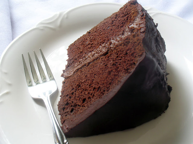 Chocolate Cake with Chocolate Filling and Ganache