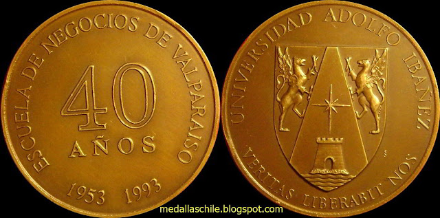 Medalla Escuela de Negocios Adolfo Ibañez