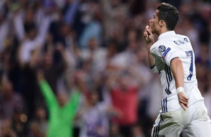 Real Madrid's Ronaldo first to score 100 Champions League goals