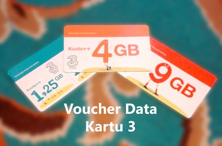 Info Paket Data Kartu 3 - 1.25 GB, 4 GB, Dan 9 GB