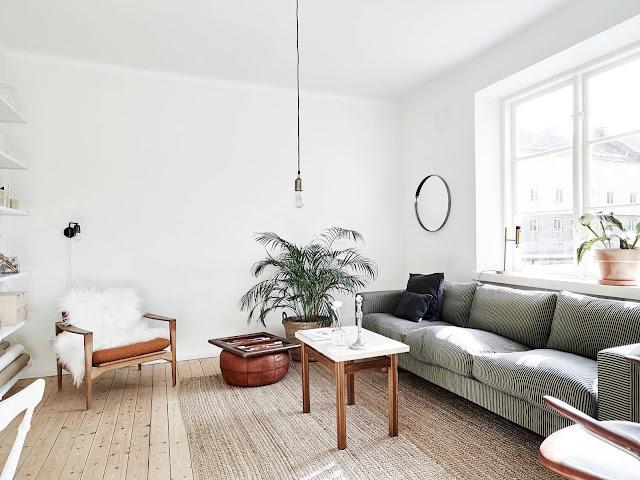 wnętrze minimalistyczne, styl skandynawski