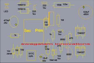 12V, 24V, 1 Amp Mosfet SMPS Circuit | Circuit Diagram Centre