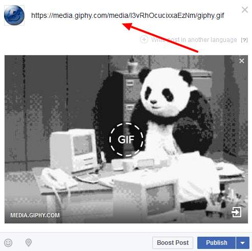 how to post animated gif images on facebook