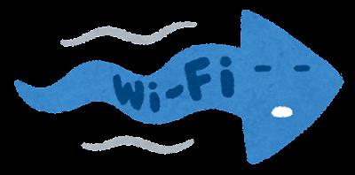 遅いWi-Fiのイラスト(右向き)
