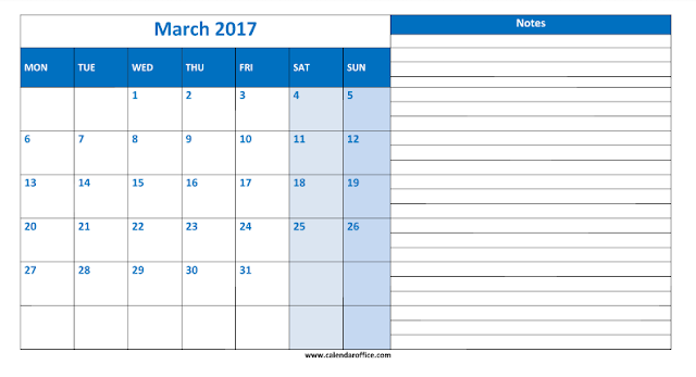 March 2017 Calendar, March 2017 Calendar Printable, March 2017 Calendar Template, March 2017 Printable Calendar, March 2017 Calendar PDF, March 2017 Blank Calendar