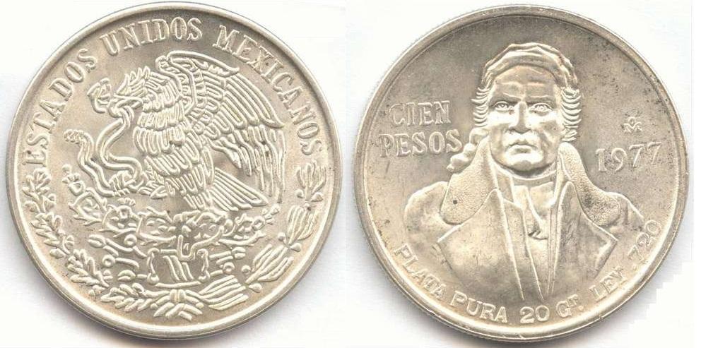 Coin Universe Silver Mexico Cien Pesos
