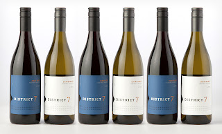 Six District 7 Wine Bottles
