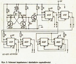 Schemat impulsatora i dzielników częstotliwości