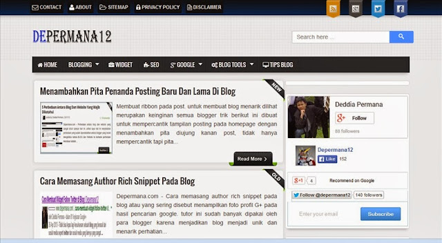 Review Depermana12 Web Tutor Blog