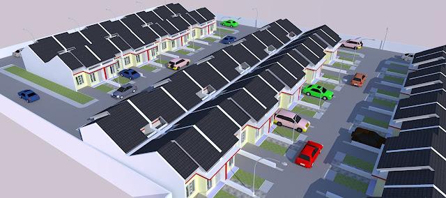 site plan rumah subsidi