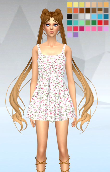 The Bishi Watch Sailor Moon Hair Amp Clothing For The Sims 4