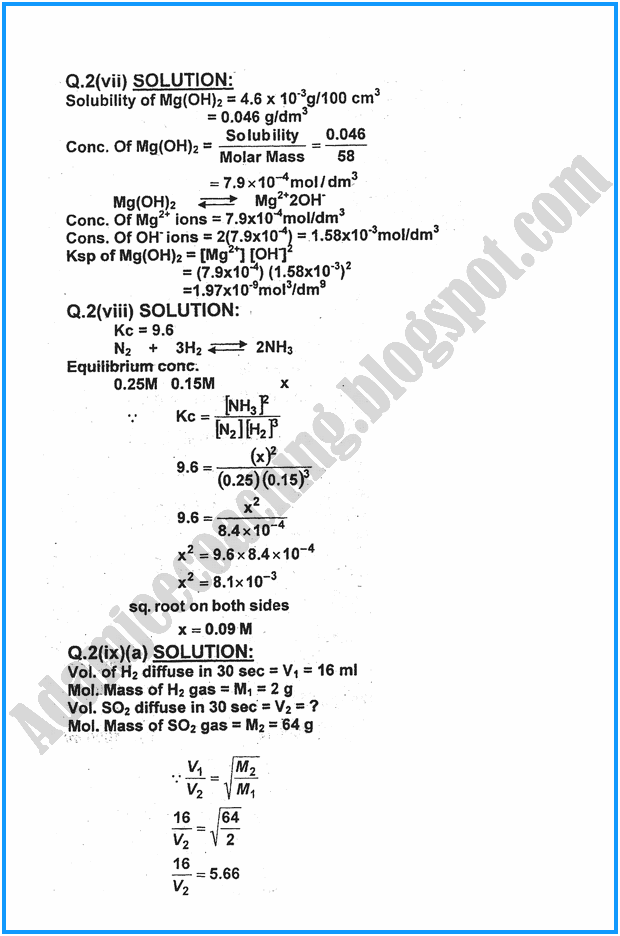 xi-chemistry-numericals-past-year-paper-2016