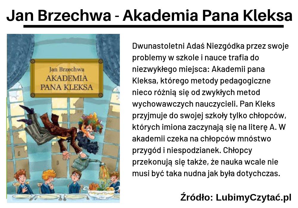 Jan Brzechwa, Akademia Pana Kleksa, TOP 10, Marzenie Literackie