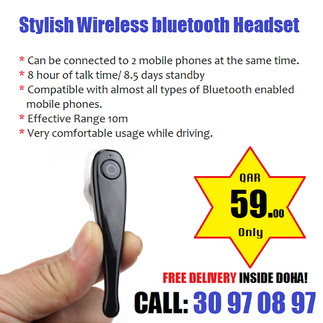 Stylish Wireless Bluetooth Headset With Mic