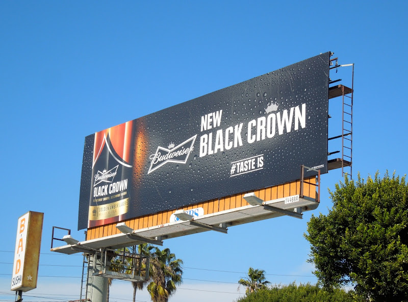 Budweiser Black Crown beer billboard