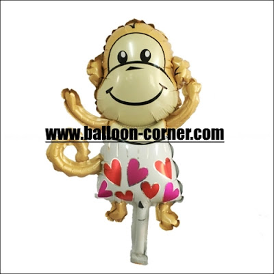 Balon Foil Monyet Mini