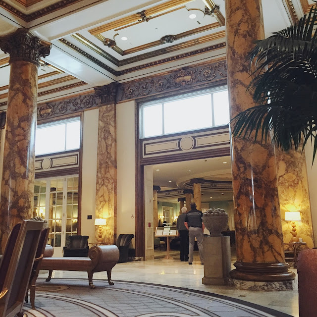 Interior Lobby of the Fairmont in San Francisco, CA